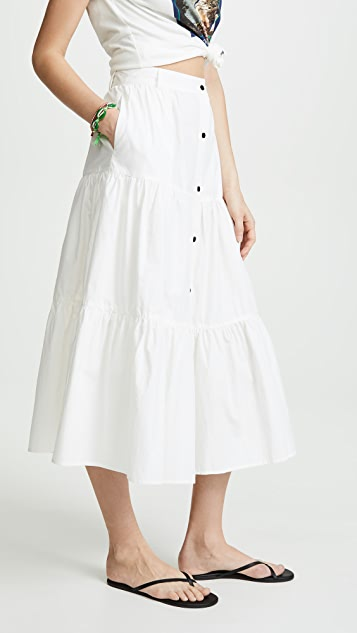 Solid & Striped 府绸长款半身裙