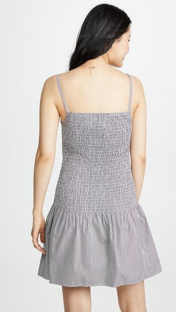 Solid & Striped 抽褶府绸连衣裙