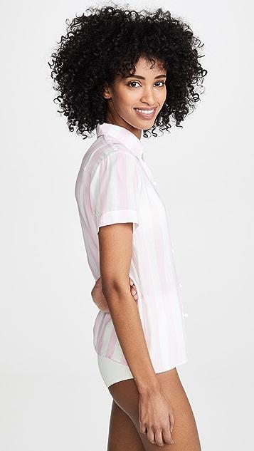 Solid & Striped 短袖系扣衬衣