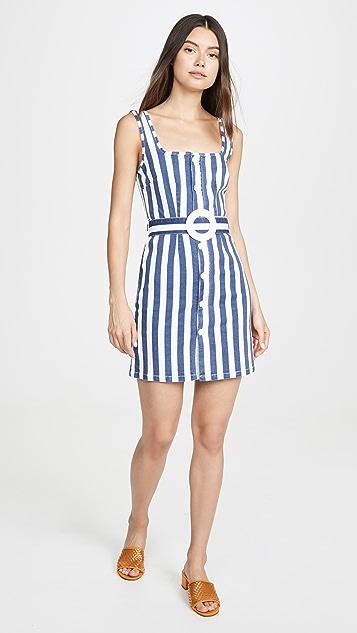 Solid & Striped 系扣腰带连衣裙