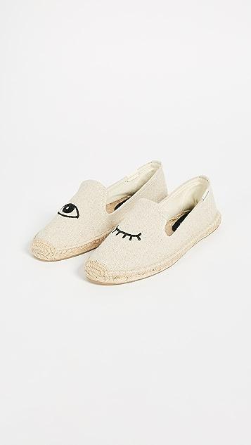 Soludos Jason Polla x Soludos 眨眼编织底便鞋