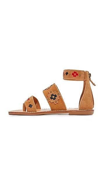 Soludos 刺绣凉鞋