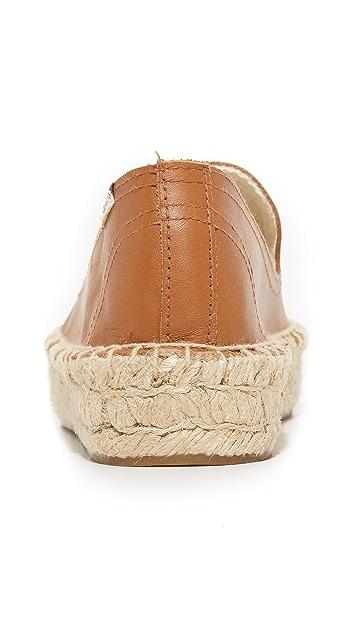 Soludos 厚底皮吸烟便鞋