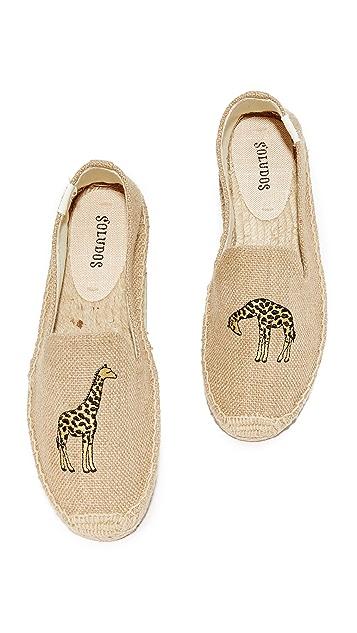 Soludos 长颈鹿吸烟拖鞋便鞋