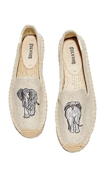 Soludos 小象吸烟浅口便鞋