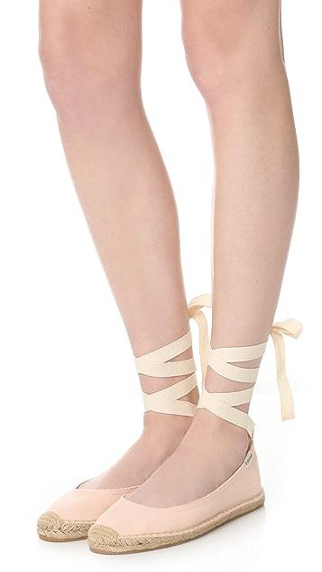 Soludos 系带芭蕾舞平底鞋