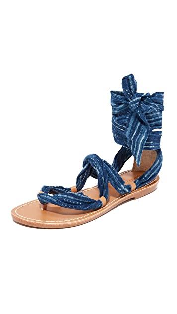 Soludos Indigo Bandana 凉鞋