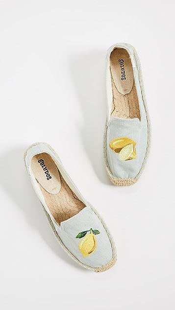 Soludos Lemons 吸烟便鞋