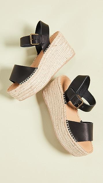 Soludos Minorca 高厚底凉鞋