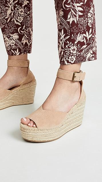 Soludos Positano 坡跟编织底便鞋