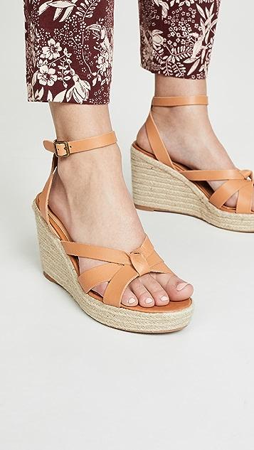 Soludos Charlotte 编织底坡跟鞋