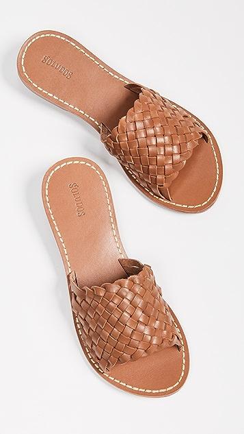Soludos 编织无跟便鞋