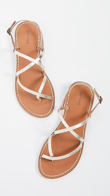 Soludos Zoe 绑带式凉鞋