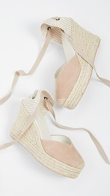 Soludos Mallorca 坡跟麻编鞋