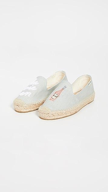 Soludos La Vie En Rosé Smoking 麻编鞋