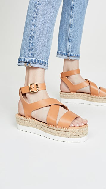 Soludos Olympia 编织底凉鞋
