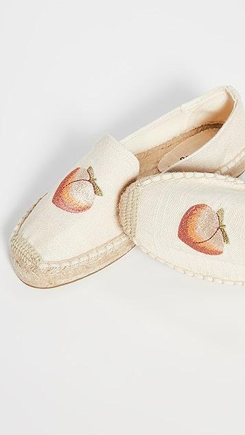 Soludos Peach Bum 吸烟编织底拖鞋