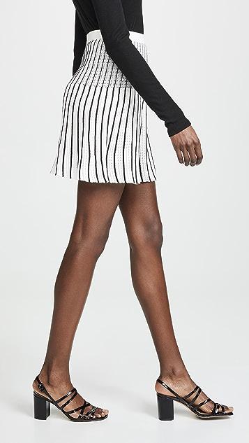 Sonia Rykiel 条纹布针织迷你裙