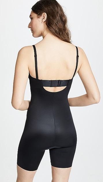 SPANX Suit Your Fancy 长至大腿中部的无肩带紧身连衣裤