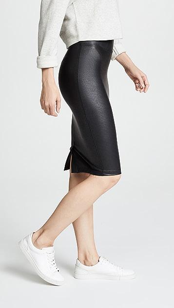 SPANX 仿皮铅笔裙