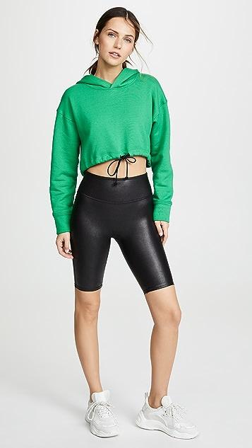 SPANX 仿皮机车短裤