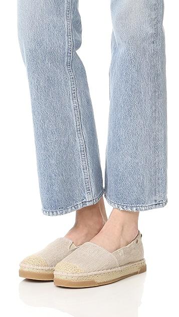 Sperry 桂冠暗礁编织底帆布鞋