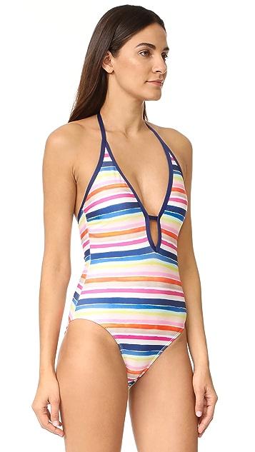 Splendid Watercolor Horizon 连体泳衣