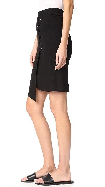 Splendid 系带半身裙