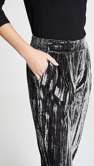 Splendid 月光石色天鹅绒裤子