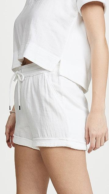 Splendid Abbot 混合材质短裤