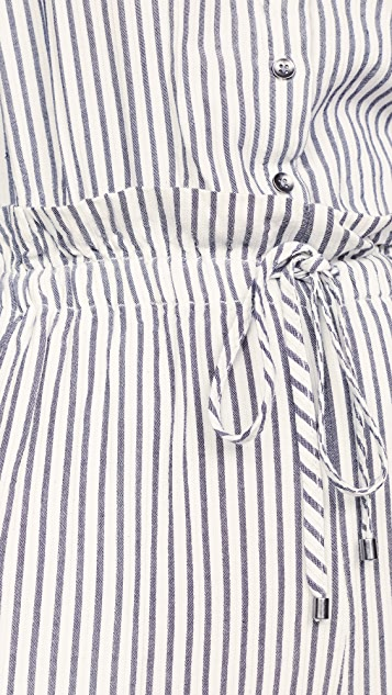 Splendid 纱染条纹连身衣