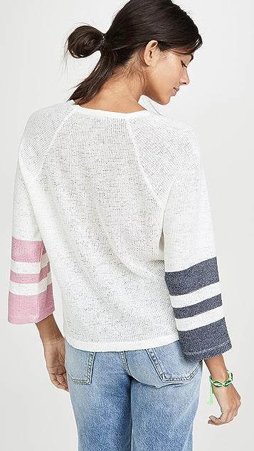 Splendid 彩绘条纹松针织