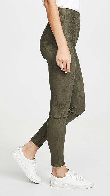 Splendid 仿绒面革高腰贴腿裤