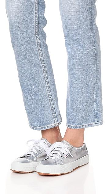 Superga 2750 金数色网眼运动鞋