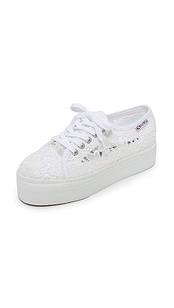 Superga 2790 镂空织花厚底运动鞋