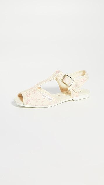 Superga x LoveShackFancy 1200 Rosetta 凉鞋