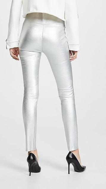 SPRWMN 高腰皮贴腿裤