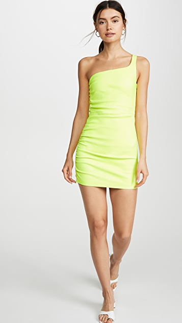 SPRWMN 单肩褶皱设计连衣裙
