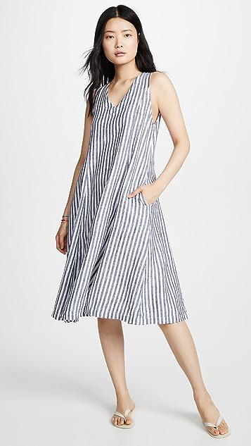 Stateside 亚麻衬衫料连衣裙