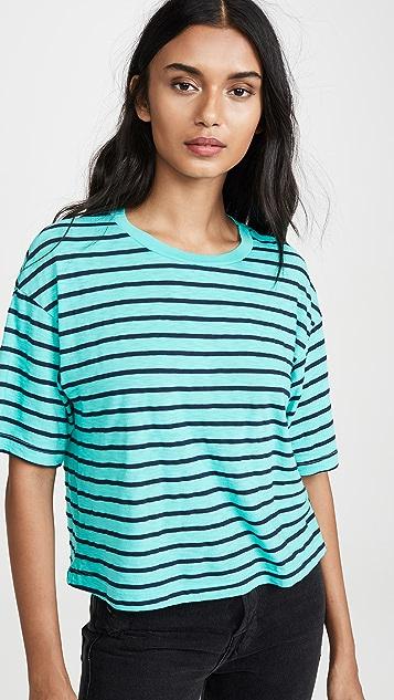 Stateside 竹节纹海滨条纹 T 恤