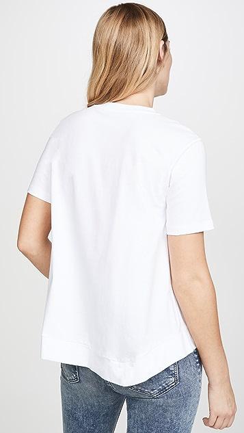 Stella McCartney 金色徽标平针织 T 恤