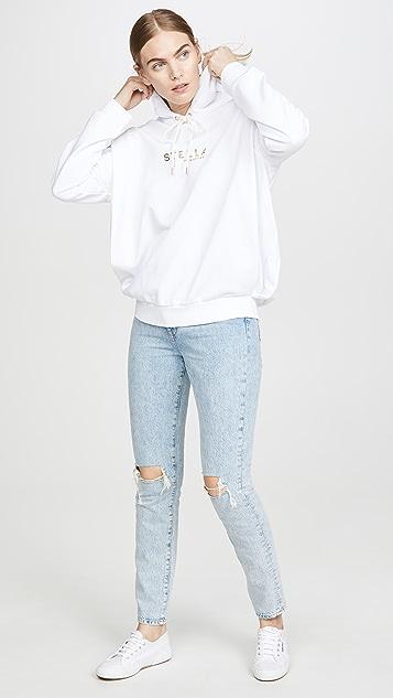 Stella McCartney 金色徽标运动衫