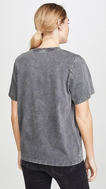 Stella McCartney 黑色牛仔布水洗 T 恤