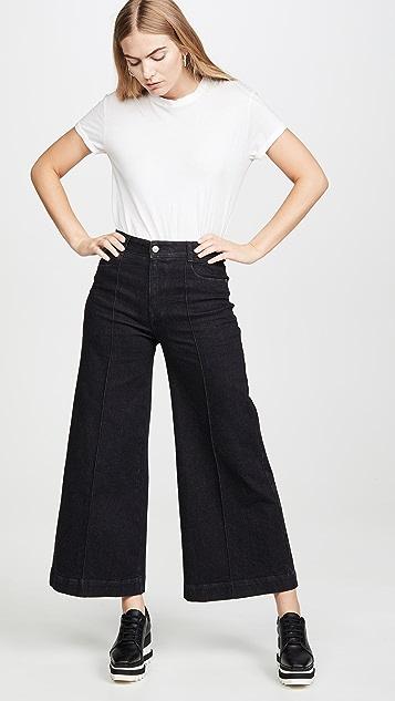 Stella McCartney 牛仔布有机设计 舒适黑色