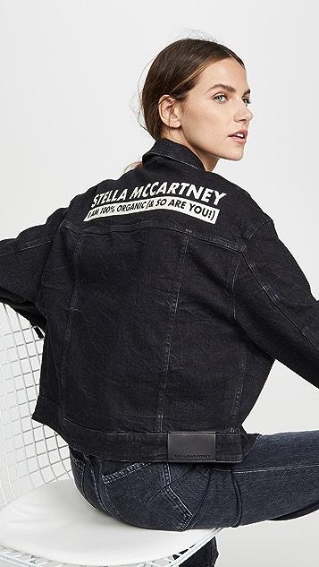 Stella McCartney 徽标牛仔夹克