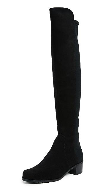 Stuart Weitzman Reserve 弹性绒面革靴子