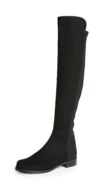 Stuart Weitzman 5050 弹性绒面革短靴