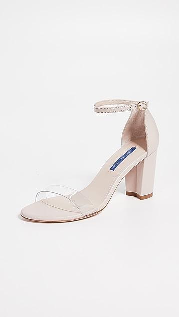 Stuart Weitzman Nearlynude 透明凉鞋