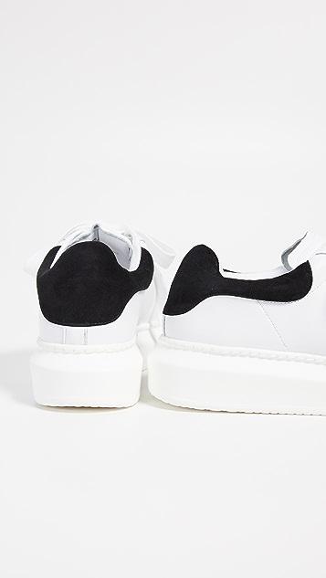 Steven 光面系带运动鞋