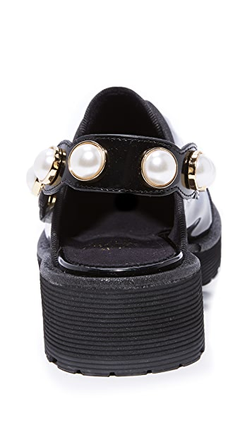 Suecomma Bonnie 珠宝饰带浅口船鞋
